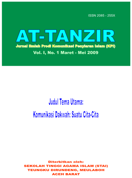 Jurnal At-Tanzir Vol I, No 1 Maret - Mei 2009