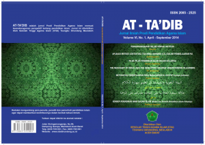 Cover Jurnal At-Ta'dib Vol VI
