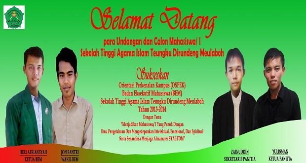Ospek STAI Teungku Dirundeng Meulaboh Periode 2013/2014