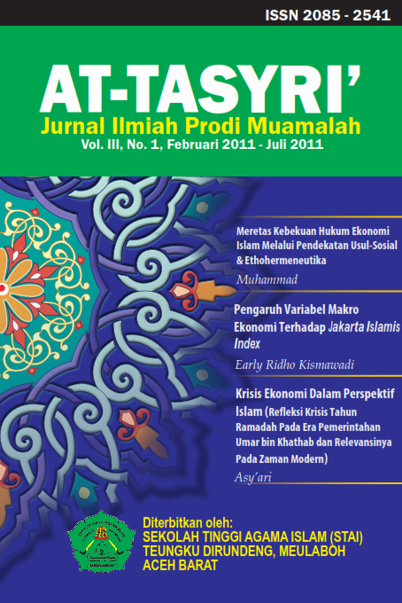 JURNAL AT-TASYRI' VOLUME III, NO 1, FEBRUARI - JULI 2011.pdf