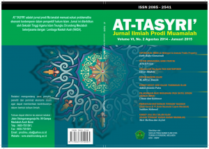 cover at tasyri, Vol. 6 No 2_001