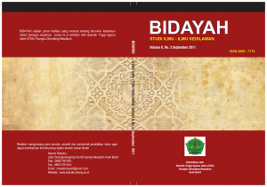 Cover Bidayah, Vol. 2, No. 3_001