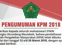 Pengumuman Pembekalan KPM