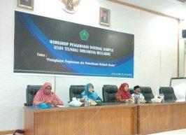 Adakan Workshop, SPI Ingin Tingkatkan Mutu Melalui Pengawasan Internal